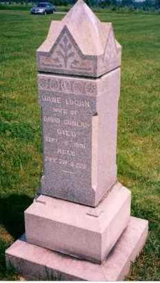 LOGAN DUNLAP, JANE - Carroll County, Ohio | JANE LOGAN DUNLAP - Ohio Gravestone Photos