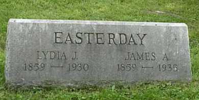 RAY EASTERDAY, LYDIA J. - Carroll County, Ohio | LYDIA J. RAY EASTERDAY - Ohio Gravestone Photos