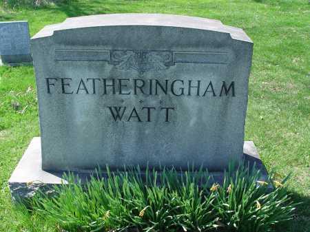 FEATHERINGHAM, WATT MONUMENT - Carroll County, Ohio | WATT MONUMENT FEATHERINGHAM - Ohio Gravestone Photos