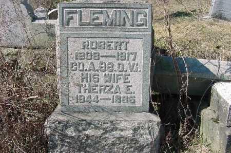 HAMILTON FLEMING, THERZA E. - Carroll County, Ohio | THERZA E. HAMILTON FLEMING - Ohio Gravestone Photos