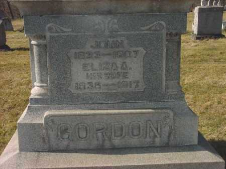 GORDON, ELIZA A. - Carroll County, Ohio | ELIZA A. GORDON - Ohio Gravestone Photos