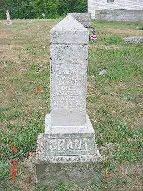 GRANT, DAVID E. - Carroll County, Ohio | DAVID E. GRANT - Ohio Gravestone Photos