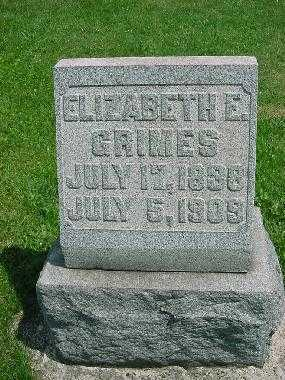 GRIMES, ELIZABETH E. - Carroll County, Ohio | ELIZABETH E. GRIMES - Ohio Gravestone Photos