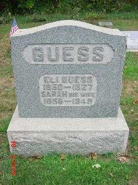 GUESS, ELI - Carroll County, Ohio | ELI GUESS - Ohio Gravestone Photos