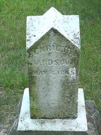 HARDSOUK, HENRIETTA - Carroll County, Ohio | HENRIETTA HARDSOUK - Ohio Gravestone Photos