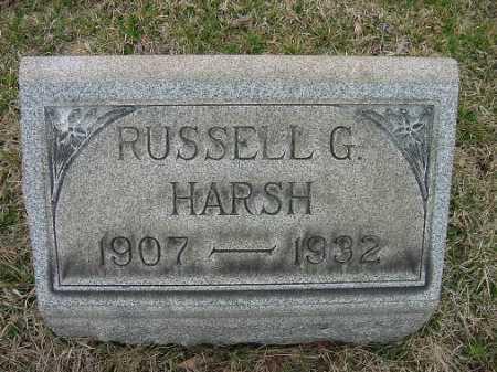 HARSH, RUSSELL G. - Carroll County, Ohio | RUSSELL G. HARSH - Ohio Gravestone Photos