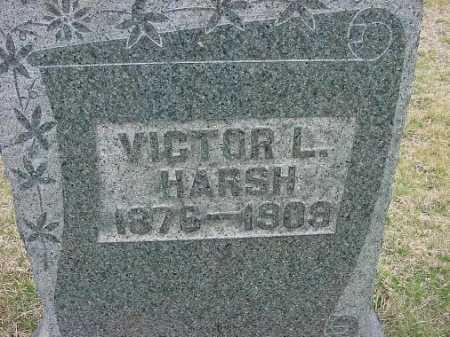 HARSH, VICTOR L. - Carroll County, Ohio   VICTOR L. HARSH - Ohio Gravestone Photos