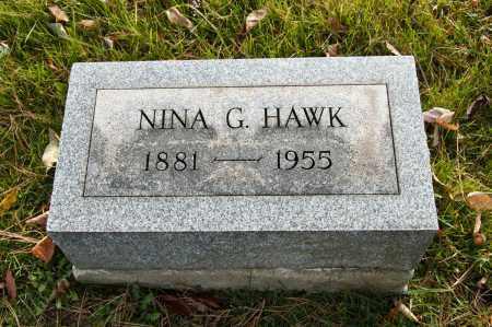 MOORE HAWK, NINA G. - Carroll County, Ohio   NINA G. MOORE HAWK - Ohio Gravestone Photos
