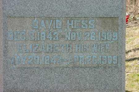 HESS, DAVID - Carroll County, Ohio | DAVID HESS - Ohio Gravestone Photos