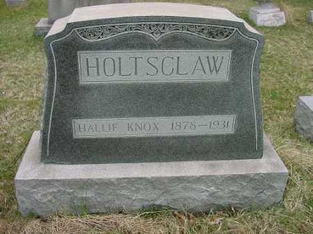 HOLTSCLAW, HALLIE KNOX - Carroll County, Ohio | HALLIE KNOX HOLTSCLAW - Ohio Gravestone Photos