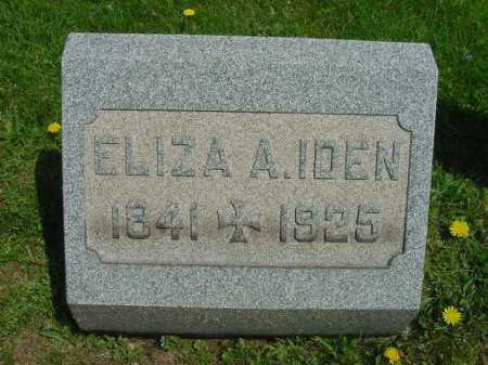 IDEN, ELIZA A. - Carroll County, Ohio   ELIZA A. IDEN - Ohio Gravestone Photos