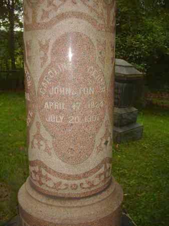 GEIGER JOHNSTON, CAROLINE - Carroll County, Ohio | CAROLINE GEIGER JOHNSTON - Ohio Gravestone Photos