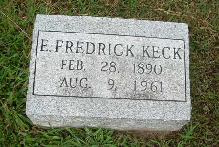 KECK, E FREDRICK - Carroll County, Ohio | E FREDRICK KECK - Ohio Gravestone Photos