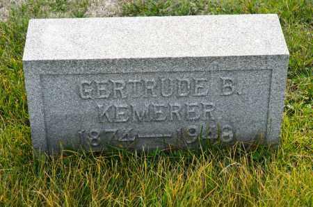 BUTLER KEMERER, GERTRUDE - Carroll County, Ohio | GERTRUDE BUTLER KEMERER - Ohio Gravestone Photos