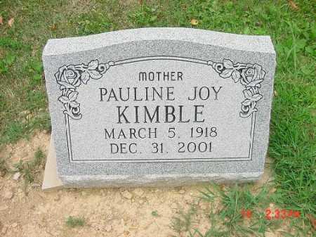 KIMBLE, PAULINE JOY - Carroll County, Ohio | PAULINE JOY KIMBLE - Ohio Gravestone Photos