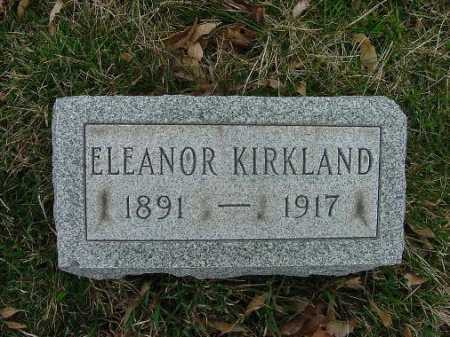 KIRKLAND, ELEANOR - Carroll County, Ohio   ELEANOR KIRKLAND - Ohio Gravestone Photos