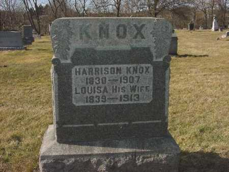 KNOX, LOUISA - Carroll County, Ohio | LOUISA KNOX - Ohio Gravestone Photos