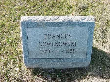 KOWLKOWSKI, FRANCES - Carroll County, Ohio | FRANCES KOWLKOWSKI - Ohio Gravestone Photos