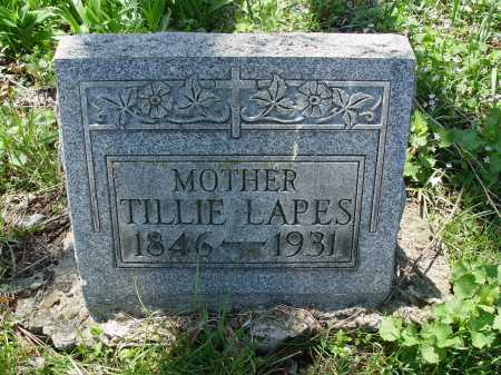 LAPES, TILLIE - Carroll County, Ohio   TILLIE LAPES - Ohio Gravestone Photos