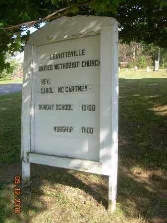 LEAVITTSVILLE UM CHURCH, SIGN - Carroll County, Ohio | SIGN LEAVITTSVILLE UM CHURCH - Ohio Gravestone Photos