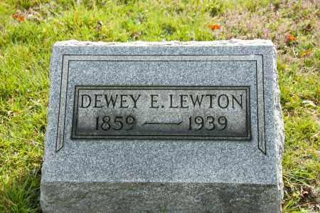 LEWTON, DEWEY ELI - Carroll County, Ohio   DEWEY ELI LEWTON - Ohio Gravestone Photos