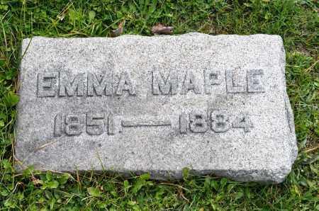 BAXTER MAPLE, EMMA - Carroll County, Ohio | EMMA BAXTER MAPLE - Ohio Gravestone Photos