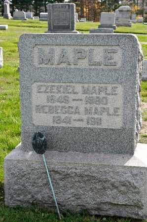 MAPLE, EZEKIEL - Carroll County, Ohio | EZEKIEL MAPLE - Ohio Gravestone Photos