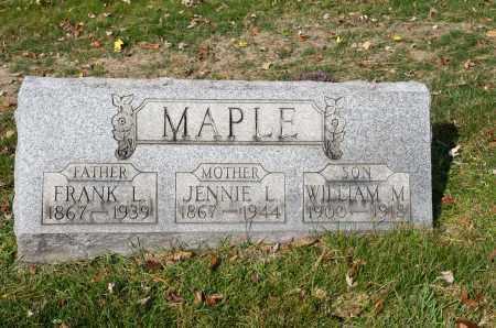 MAPLE, FRANK L. - Carroll County, Ohio   FRANK L. MAPLE - Ohio Gravestone Photos
