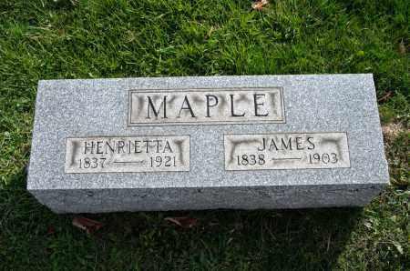 MAPLE, HENRIETTA - Carroll County, Ohio | HENRIETTA MAPLE - Ohio Gravestone Photos