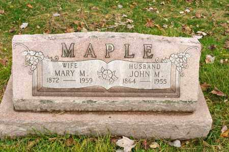 MAPLE, MARY M. - Carroll County, Ohio | MARY M. MAPLE - Ohio Gravestone Photos