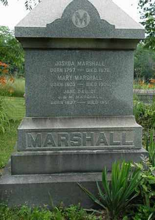 MARSHALL, JOSHUA - Carroll County, Ohio | JOSHUA MARSHALL - Ohio Gravestone Photos