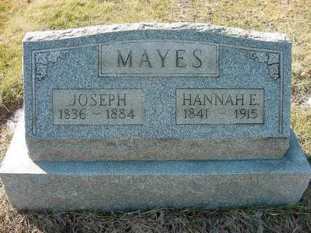 MAYES, HANNAH E. - Carroll County, Ohio | HANNAH E. MAYES - Ohio Gravestone Photos