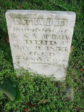 MCBAIN, CATHARINE - Carroll County, Ohio   CATHARINE MCBAIN - Ohio Gravestone Photos