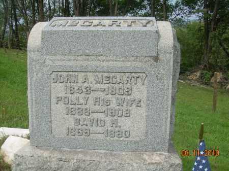MCCARTY, JOHN A - Carroll County, Ohio | JOHN A MCCARTY - Ohio Gravestone Photos
