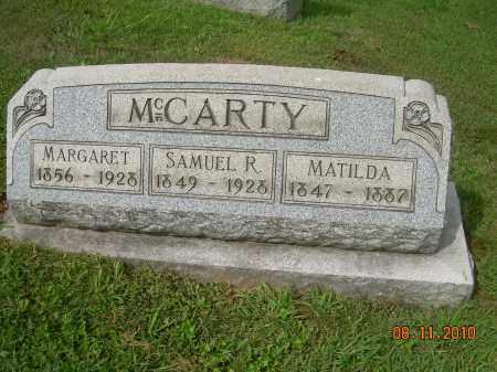 MCCARTY, SAMUEL R - Carroll County, Ohio | SAMUEL R MCCARTY - Ohio Gravestone Photos