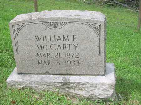 MCCARTY, WILLIAM E - Carroll County, Ohio | WILLIAM E MCCARTY - Ohio Gravestone Photos