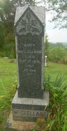 MCCLELLAND, ANDY - Carroll County, Ohio   ANDY MCCLELLAND - Ohio Gravestone Photos