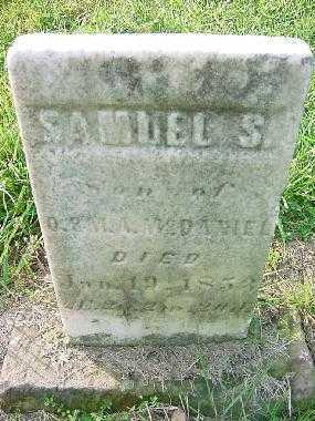 MCDANIEL, SAMUEL S. - Carroll County, Ohio   SAMUEL S. MCDANIEL - Ohio Gravestone Photos