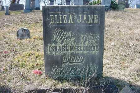 MCELDERRY, ELIZA JANE - Carroll County, Ohio   ELIZA JANE MCELDERRY - Ohio Gravestone Photos