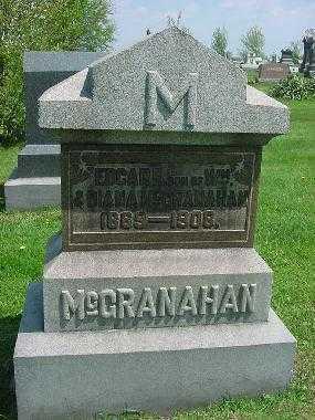 MCGRANAHAN, EDGAR R. MONUMENT - Carroll County, Ohio | EDGAR R. MONUMENT MCGRANAHAN - Ohio Gravestone Photos