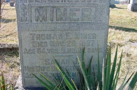 MINER, THOMAS E. - Carroll County, Ohio   THOMAS E. MINER - Ohio Gravestone Photos