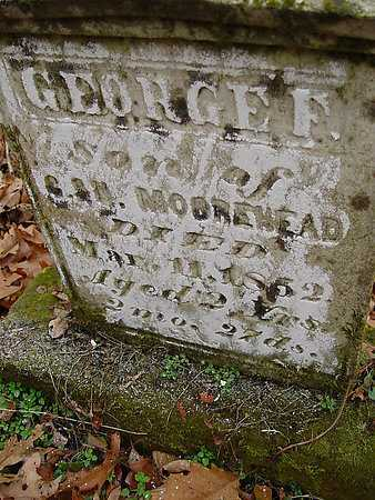 MOOREHEAD, GEORGE F. [VIEW 2] - Carroll County, Ohio | GEORGE F. [VIEW 2] MOOREHEAD - Ohio Gravestone Photos