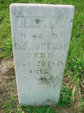 PONTIOUS, HANNAH - Carroll County, Ohio   HANNAH PONTIOUS - Ohio Gravestone Photos