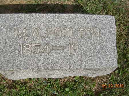 POULTON, MELISSA ANN - Carroll County, Ohio   MELISSA ANN POULTON - Ohio Gravestone Photos