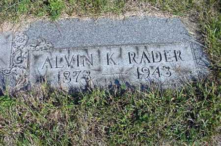 RADER, ALVIN K. - Carroll County, Ohio | ALVIN K. RADER - Ohio Gravestone Photos