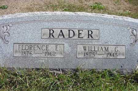RADER, FLORENCE E. - Carroll County, Ohio | FLORENCE E. RADER - Ohio Gravestone Photos