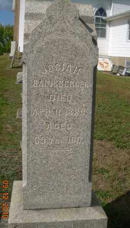 RAINSBERGER, JOSIAH - Carroll County, Ohio | JOSIAH RAINSBERGER - Ohio Gravestone Photos