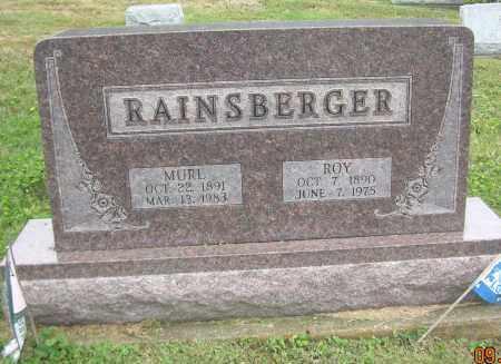 RAINSBERGER, MURL - Carroll County, Ohio | MURL RAINSBERGER - Ohio Gravestone Photos