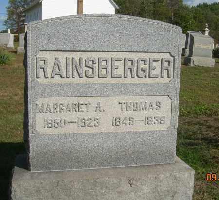 PEARCH RAINSBERGER, MARGARET A - Carroll County, Ohio   MARGARET A PEARCH RAINSBERGER - Ohio Gravestone Photos