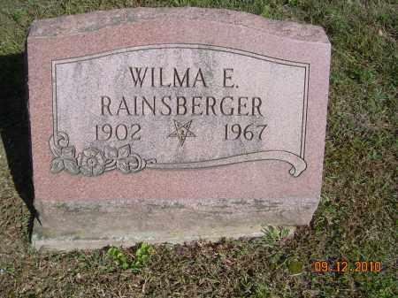 RAINSBERGER, WILMA E - Carroll County, Ohio   WILMA E RAINSBERGER - Ohio Gravestone Photos